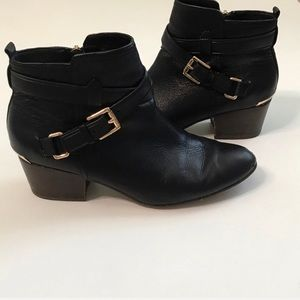Coach Black Pauline Black Booties Size 8.5